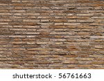 brick wall with sunny atmosphere - stock photo