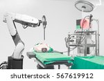 medical robot operation... | Shutterstock . vector #567619912