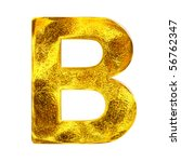 Gold letter - B - stock photo