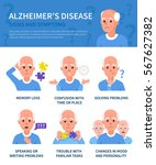 alzheimer's disease vector... | Shutterstock .eps vector #567627382