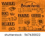 food menu for restaurant and... | Shutterstock .eps vector #567630022