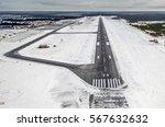 Airport Runway Takeoff Airplan...