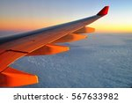 View From Airplane Window With...