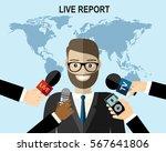 business man giving an...   Shutterstock .eps vector #567641806
