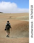 man with backpack hiking | Shutterstock . vector #56764318