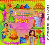 vector illustration of india... | Shutterstock .eps vector #567646456
