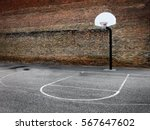 basketball hoop in urban... | Shutterstock . vector #567647602