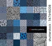 a huge set of creative seamless ... | Shutterstock .eps vector #567648208