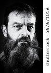 black and white portrait... | Shutterstock . vector #567671056