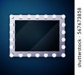 make up mirror with light bulbs | Shutterstock .eps vector #567673858