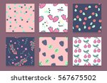 set of colorful vector hand... | Shutterstock .eps vector #567675502