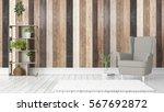 modern bright interior . 3d... | Shutterstock . vector #567692872