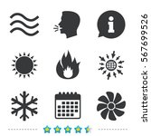 hvac icons. heating ... | Shutterstock .eps vector #567699526