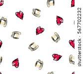 love tea seamless pattern....   Shutterstock .eps vector #567702232