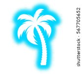 vector palm tree silhouette icon | Shutterstock .eps vector #567705652