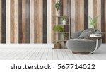 modern bright interior . 3d... | Shutterstock . vector #567714022