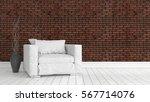 modern bright interior . 3d...   Shutterstock . vector #567714076