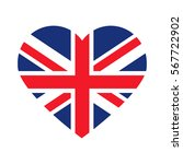 united kingdom flag heart | Shutterstock .eps vector #567722902