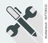 wrench and pen   design project ... | Shutterstock .eps vector #567728122