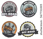 set of off road suv car round... | Shutterstock .eps vector #567731005