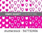 eight women's solidarity march... | Shutterstock .eps vector #567732406