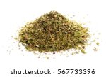 pile of dried oregano leaves... | Shutterstock . vector #567733396