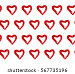 pattern of simple red hand... | Shutterstock . vector #567735196