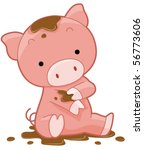 cute pig   vector | Shutterstock .eps vector #56773606