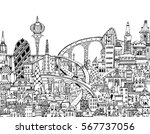 modern city illustration with a ... | Shutterstock .eps vector #567737056