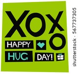 happy hug day 12 february xoxo  ... | Shutterstock .eps vector #567737305