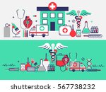 health care concept in modern... | Shutterstock .eps vector #567738232