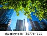 modern buildings in toronto... | Shutterstock . vector #567754822