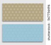 seamless horizontal borders... | Shutterstock .eps vector #567756496