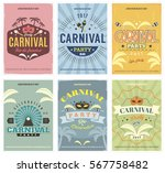 retro style carnival posters... | Shutterstock .eps vector #567758482