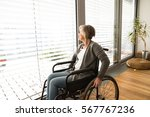 Disabled Senior Woman In...