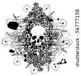 vector skull with ornaments | Shutterstock .eps vector #56777158