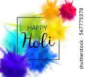 happy holi vector illustration...   Shutterstock .eps vector #567775378