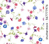 seamless pattern with... | Shutterstock . vector #567777976