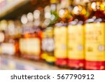 blurred shelf with bottles of... | Shutterstock . vector #567790912