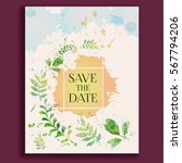 wedding invitation  thank you ... | Shutterstock .eps vector #567794206