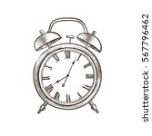 vintage watch dial isolated...   Shutterstock .eps vector #567796462