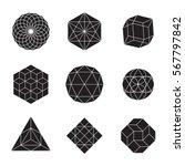 geometric shapes   set of 9... | Shutterstock .eps vector #567797842