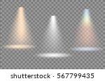 vector spotlight. light effect. | Shutterstock .eps vector #567799435