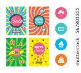 web banners and sale posters.... | Shutterstock .eps vector #567801322