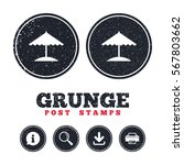 grunge post stamps. beach... | Shutterstock .eps vector #567803662