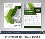 green annual report brochure... | Shutterstock .eps vector #567810466