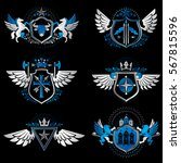 vintage heraldry design... | Shutterstock .eps vector #567815596