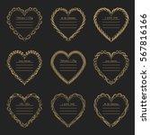valentine's day vintage gold... | Shutterstock .eps vector #567816166