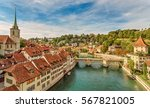 cityscape view on the old town... | Shutterstock . vector #567821005