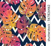 exotic seamless pattern with... | Shutterstock .eps vector #567826462